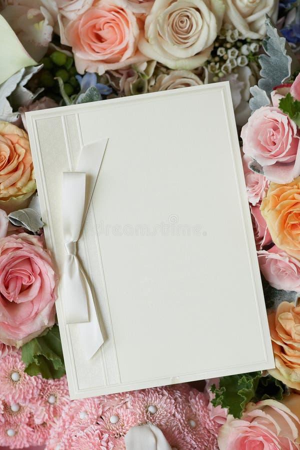 Приглашение венчания стоковые фото