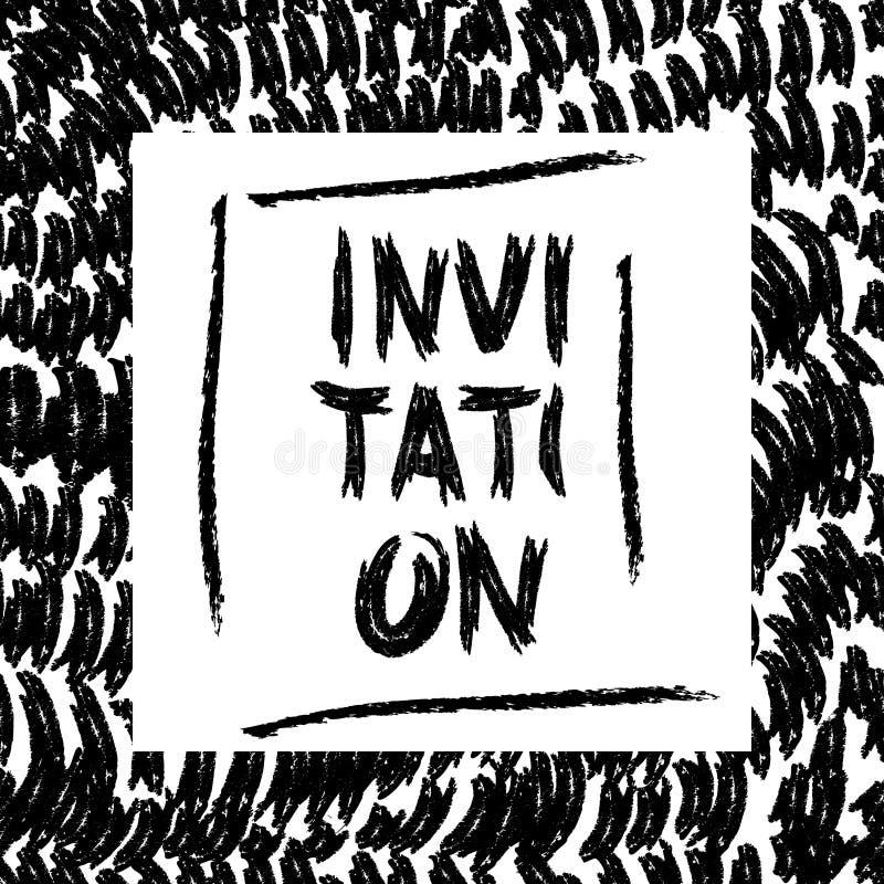 Приглашение карточки щетки иллюстрация вектора