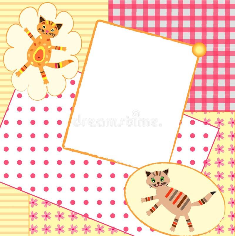 приглашение карточки vbaby иллюстрация вектора