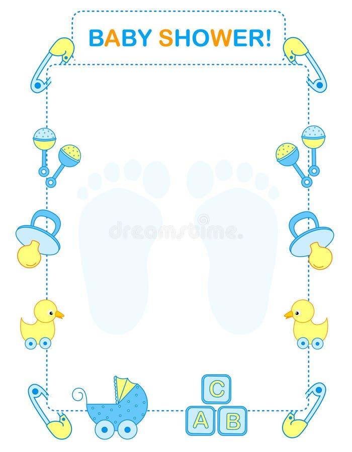 Приглашение ливня младенца иллюстрация вектора