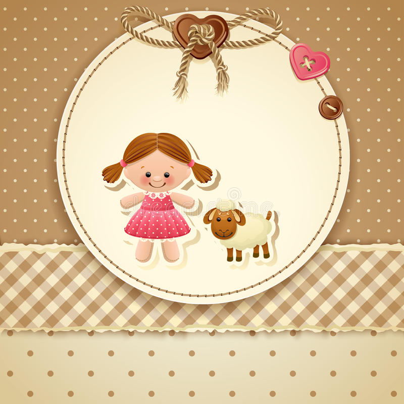 Приглашение ливня младенца иллюстрация штока