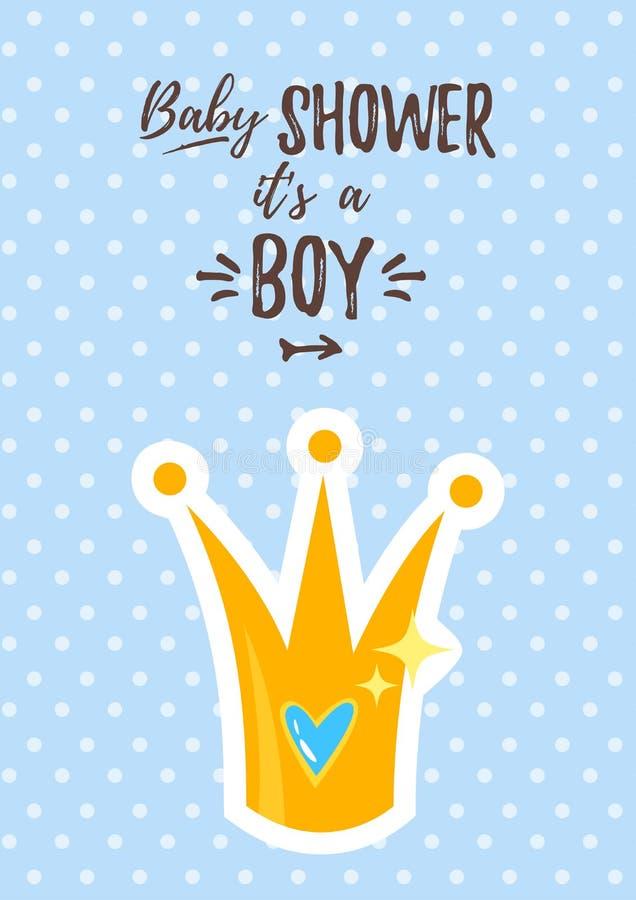 Приглашение ливня ребёнка иллюстрация вектора