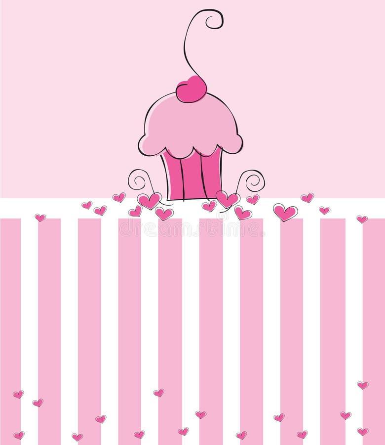 приглашение пирожня иллюстрация вектора