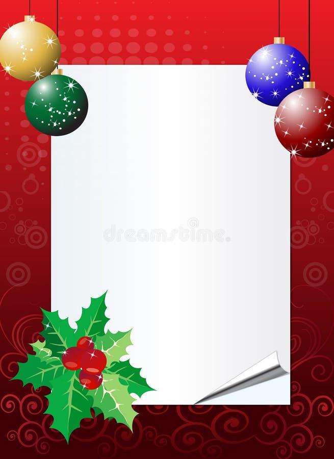 приглашение рождества предпосылки иллюстрация вектора