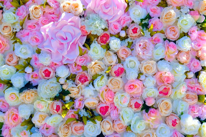 Приглашение свадьбы или модель-макет карточки дня bridal приглашение ливня или ` s матери, украшенный с рамкой цветка стоковое изображение