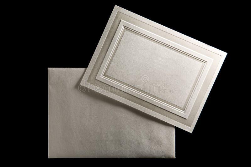 приглашение envilope карточки стоковые фото