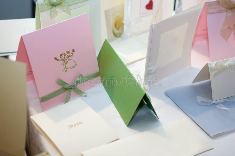 приглашения wedding стоковые изображения rf