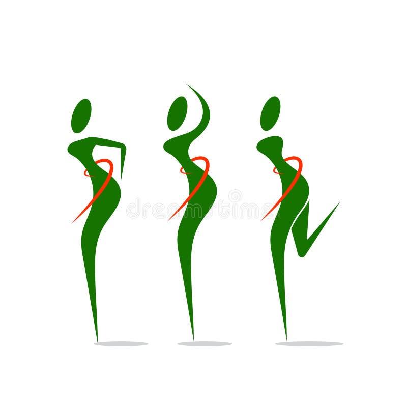 Пригонка человеческого тела здоровая с круговым шаблоном дизайна логотипа бесплатная иллюстрация