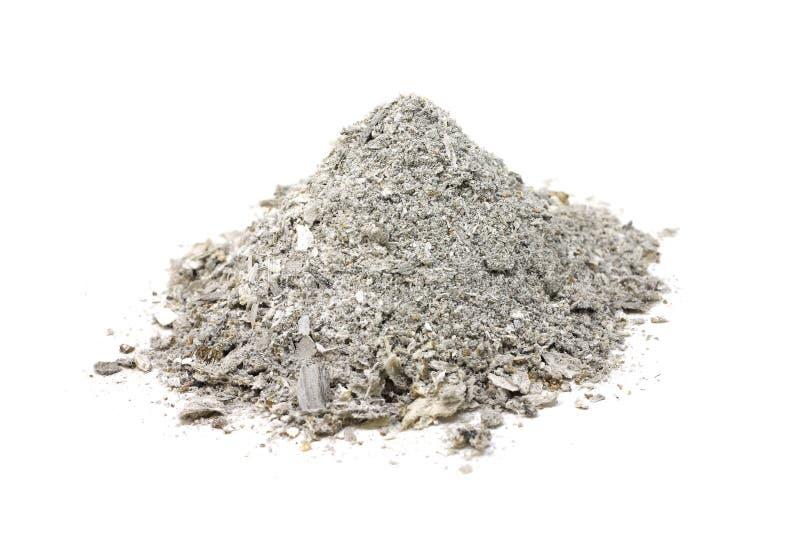 Пригорошня деревянного серого цвета золы стоковая фотография rf