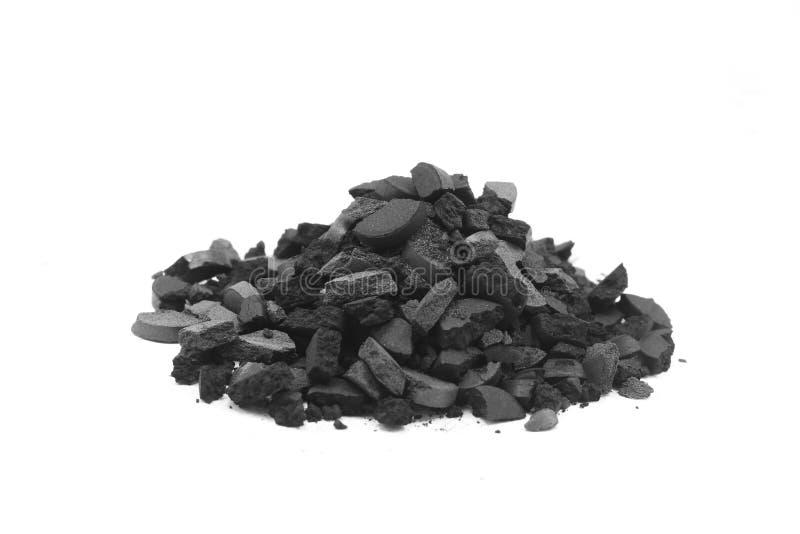 Пригорошня задавленного угля стоковые изображения