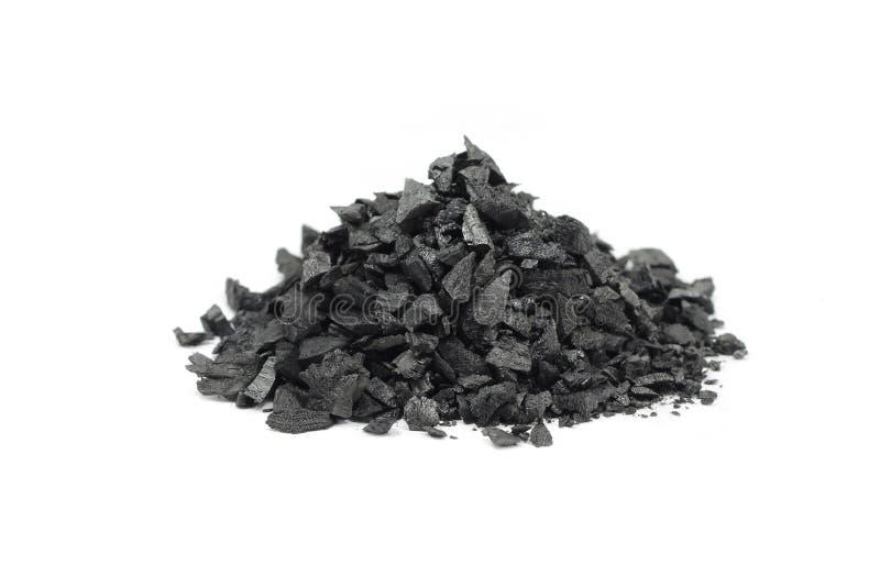 Пригорошня задавленного угля стоковая фотография