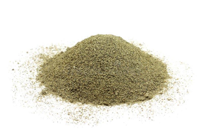 Пригорошня смеси песка и глины стоковые фото