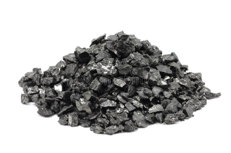 Пригорошня точной части угля стоковое фото