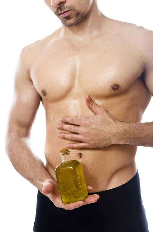 Пригодность и оливковое масло стоковое фото
