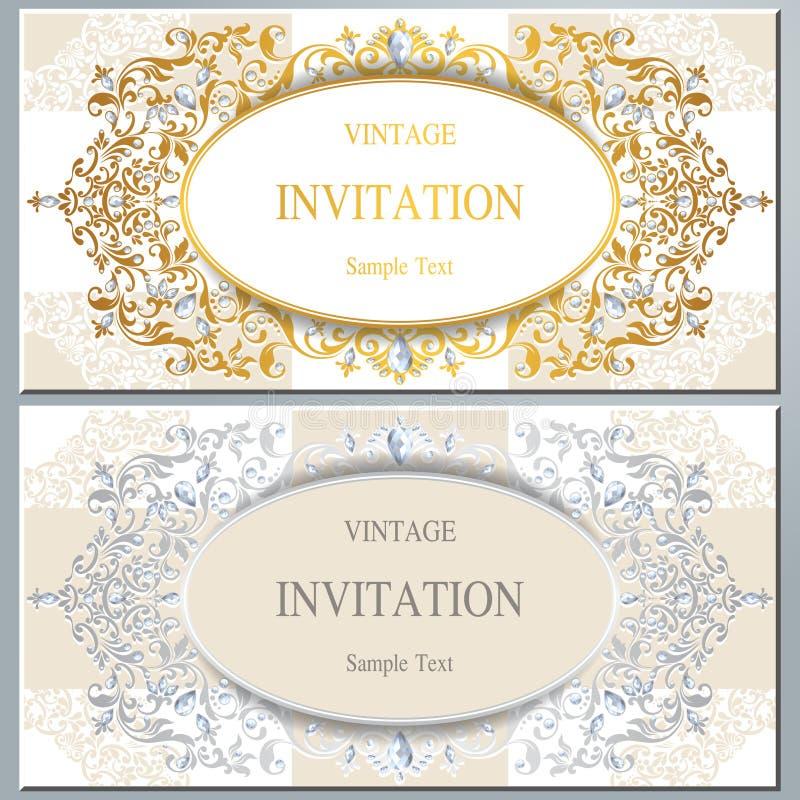 Приглашение или карточка свадьбы с абстрактной предпосылкой бесплатная иллюстрация