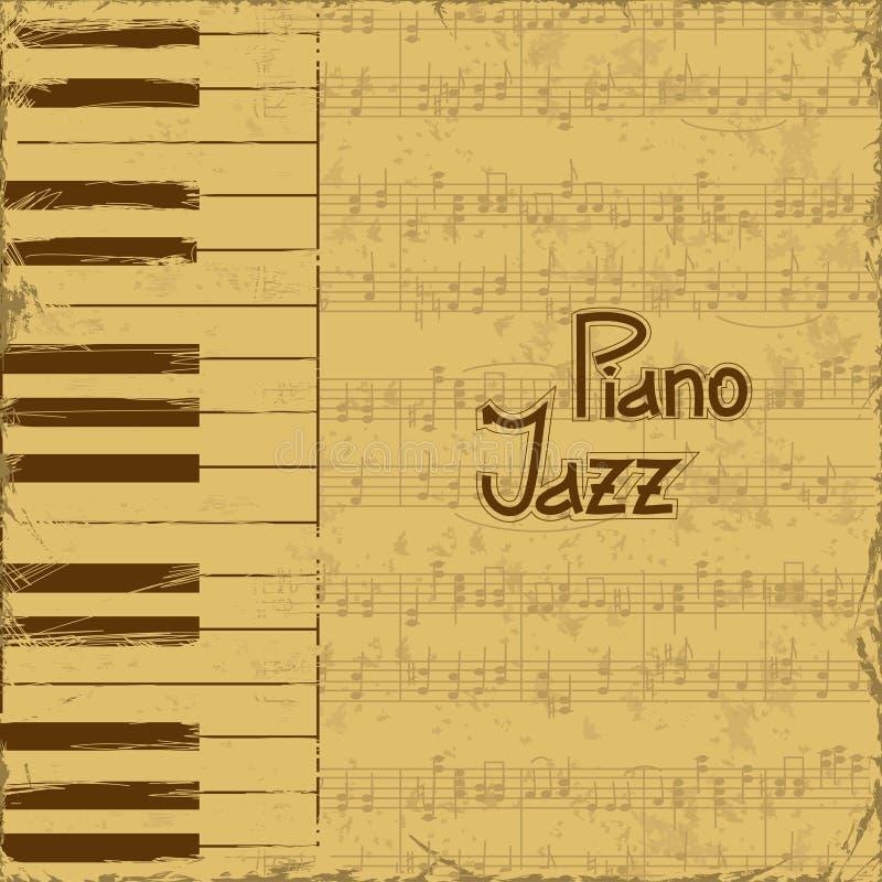 Приглашение музыки с клавиатурами и примечание ударяют иллюстрация штока