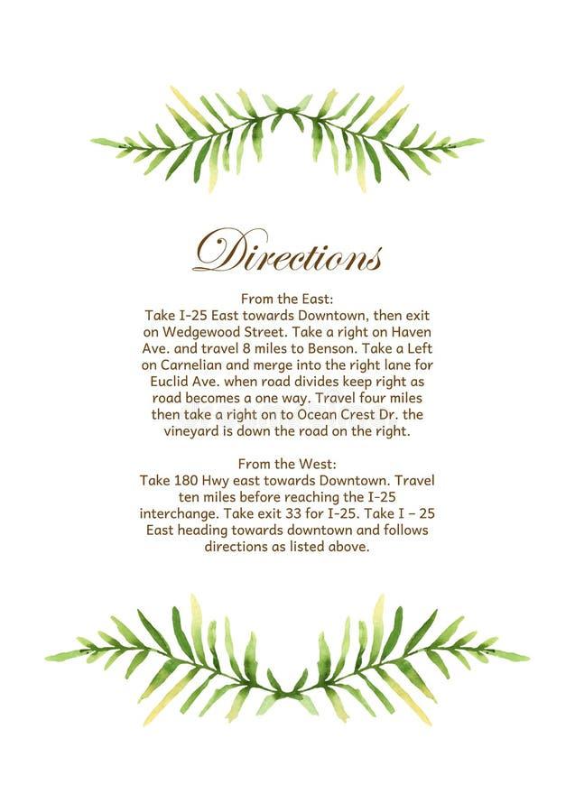 Приглашение свадьбы вектора с флористической предпосылкой Wat нарисованное рукой иллюстрация вектора
