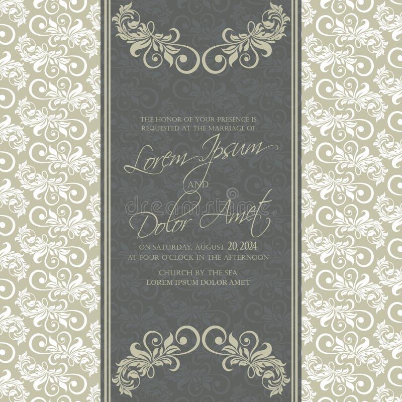 Приглашение свадьбы и сохраняет карточки даты иллюстрация штока