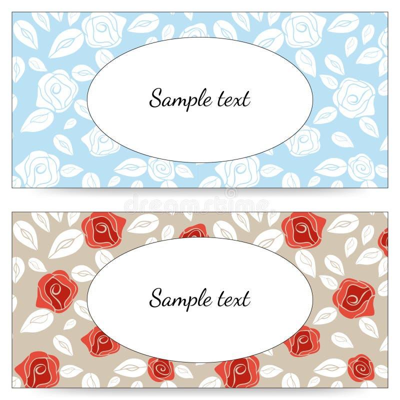 Приглашение свадьбы с красным цветом и белыми розами EPS, JPG иллюстрация штока