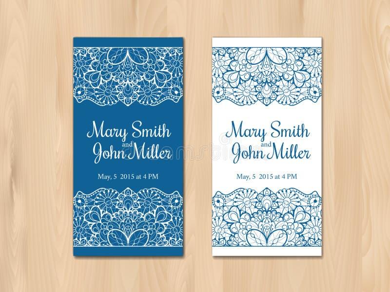 Приглашение свадьбы, шаблон карточки иллюстрация штока