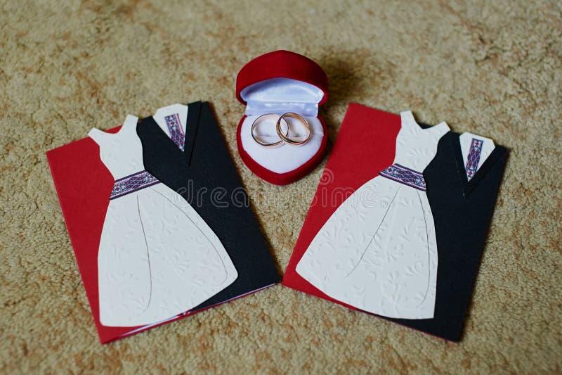 Приглашения свадьбы стоковое фото rf