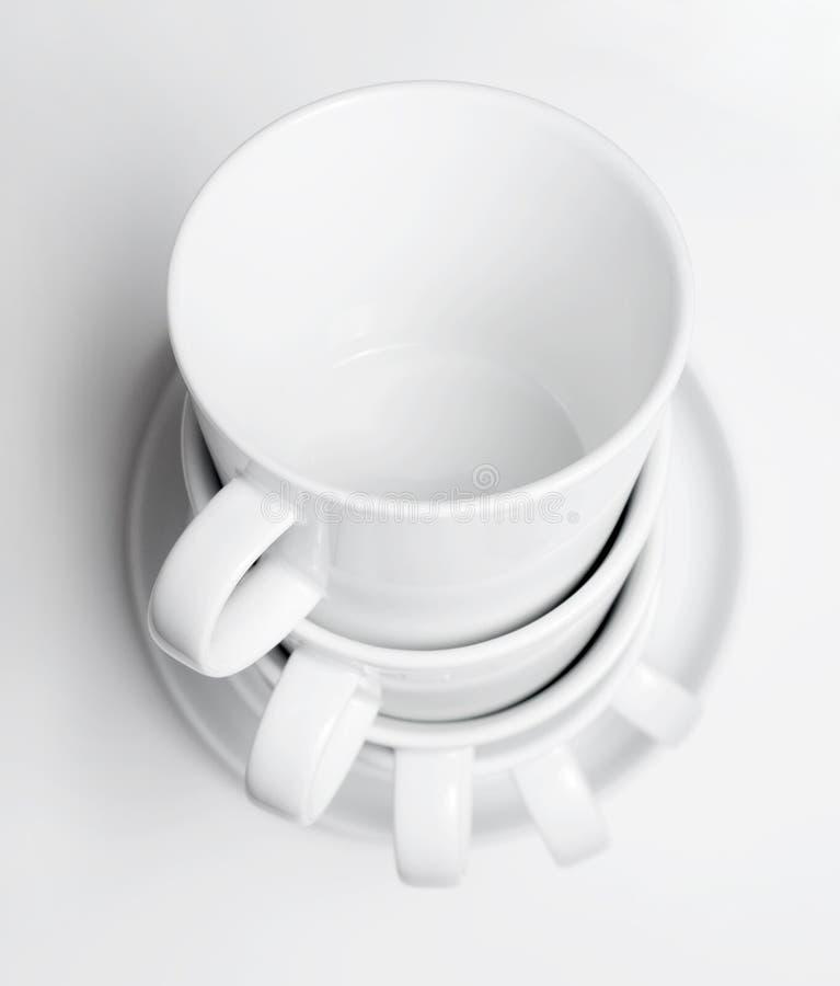 придает форму чашки белизна tableware стоковые изображения