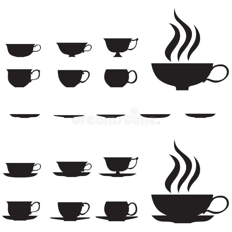 придает форму чашки малый чай иллюстрация штока