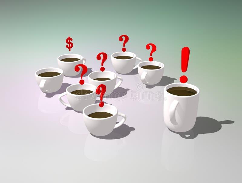 придает форму чашки чай Чаепитие офиса Обсуждение или сообщение во время перерыва на чашку кофе Символическое изображение ответов иллюстрация вектора