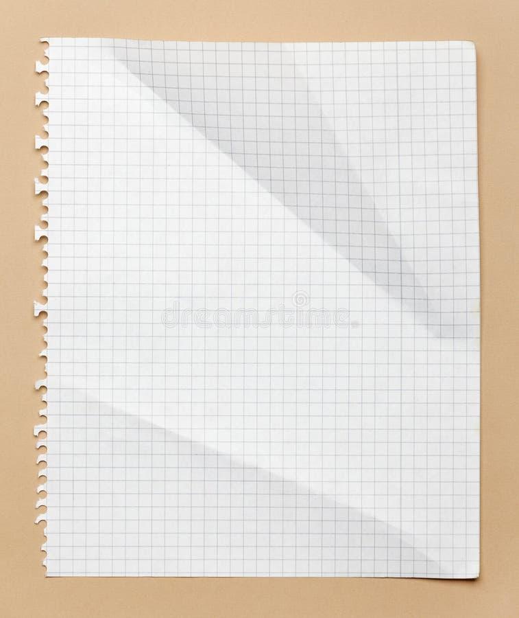 Приданная квадратную форму бумага стоковые изображения
