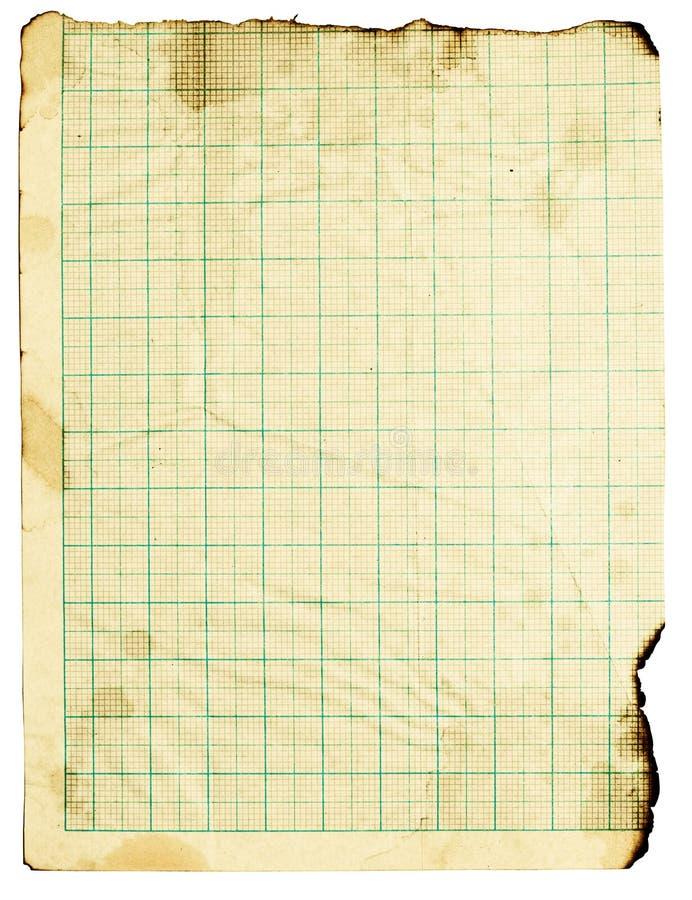 приданная квадратную форму бумага grunge стоковое изображение rf