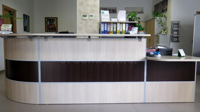 Прием в современной установке офиса стоковая фотография rf