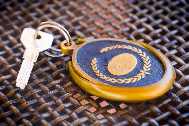 Прием ключа гостиничного номера отсутствие ярлыка пробела номера стоковые изображения rf