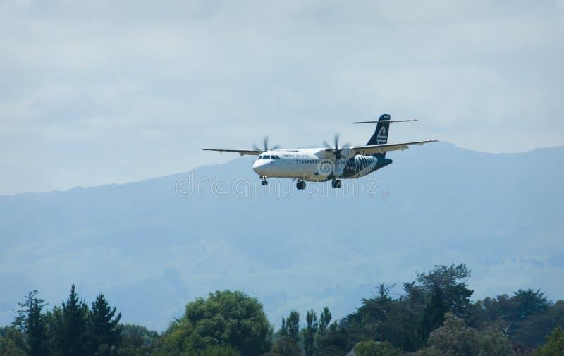Приземляясь воздушные судн Air New Zealand стоковое изображение