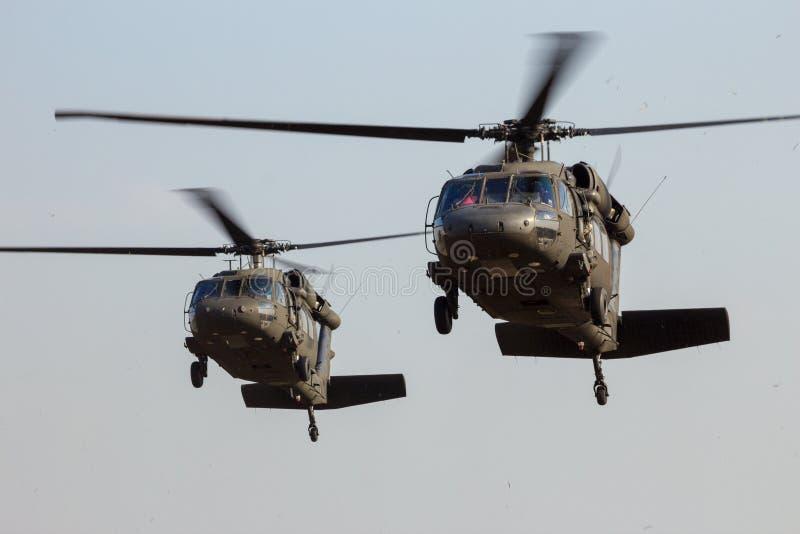 Приземляться вертолетов стоковое изображение