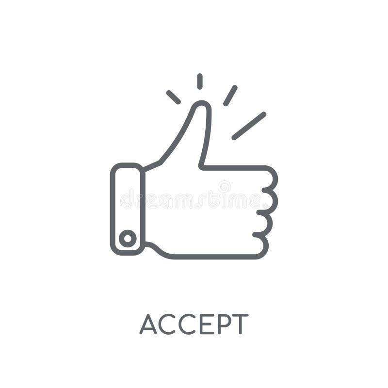 Признавайте линейный значок Современный план признавает концепцию логотипа на белизне бесплатная иллюстрация