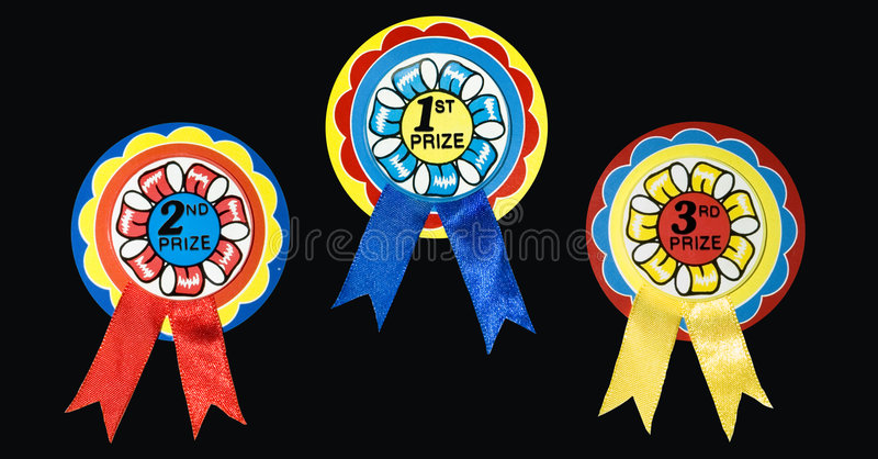 призовые тесемки стоковые фото