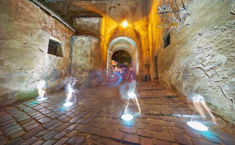 Призраки в средневековой цитадели стоковое фото rf