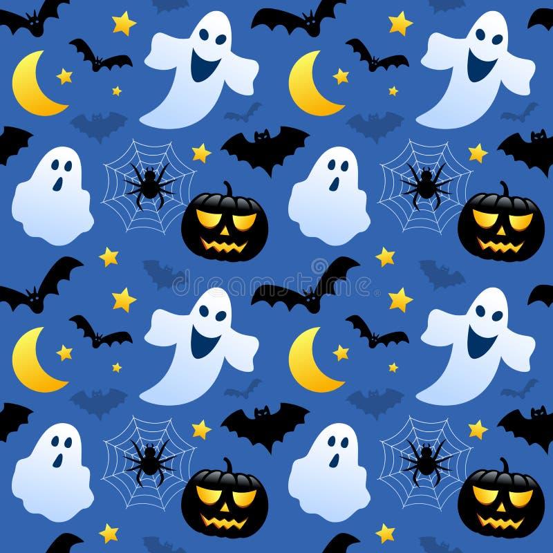 Призраки хеллоуина безшовные иллюстрация вектора