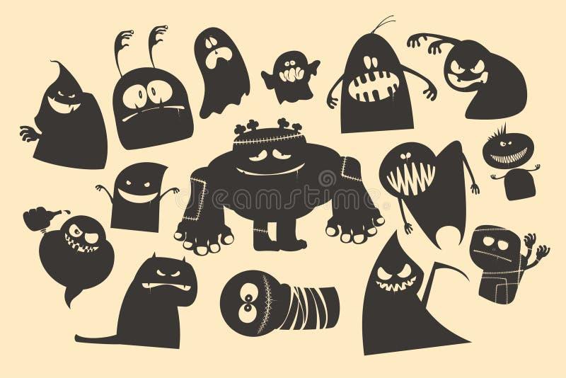 Призраки хеллоуина. бесплатная иллюстрация