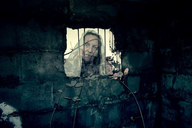 Призрак бункера Второй Мировой Войны стоковое изображение rf