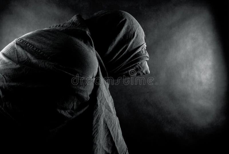 Призрак в темноте стоковые изображения