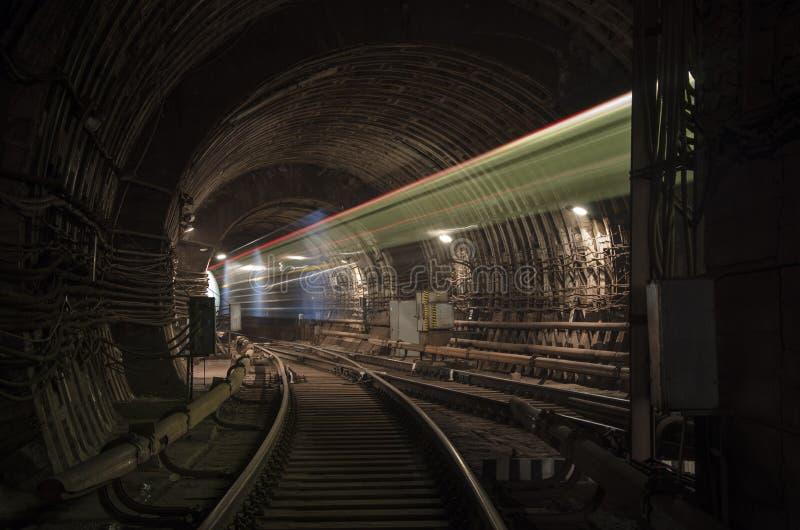 Призрак поезда в тоннеле стоковая фотография rf