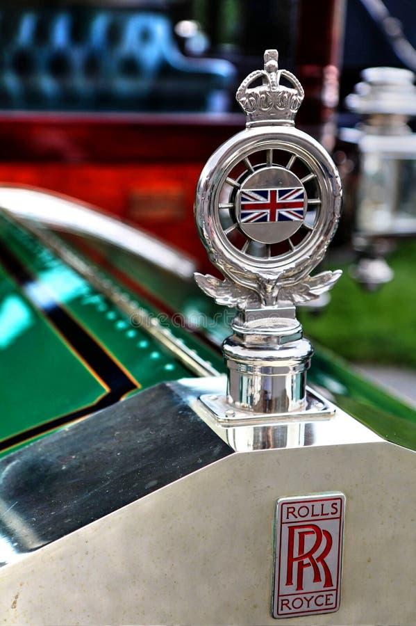 Призрак 1907 серебра Rolls Royce путешествуя орнамент клобука седана стоковые фотографии rf
