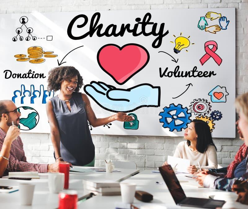 Призрение дарит концепцию шедрости благосостояния благотворительную давая стоковое изображение rf