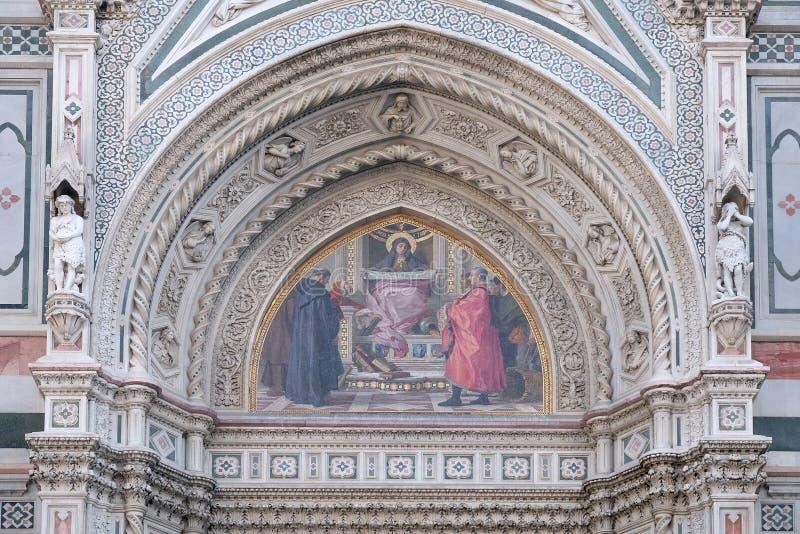 Призрение среди основателей флорентийских филантропических заведений, собор Флоренса стоковые изображения