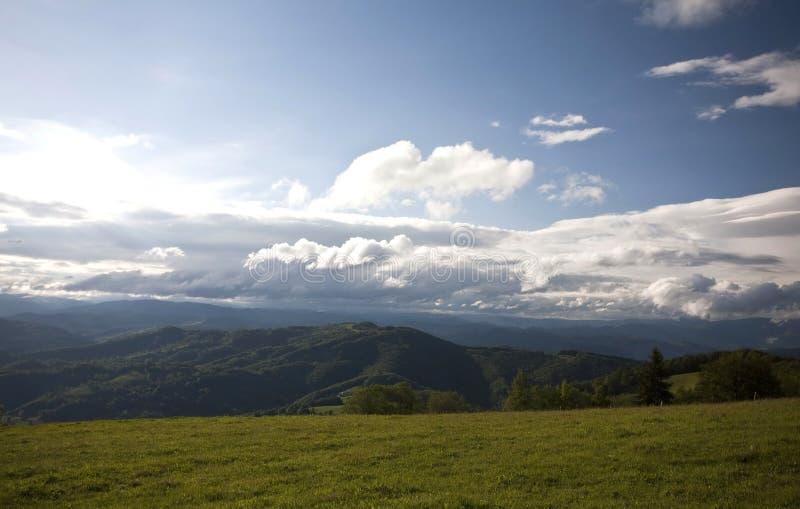 Прикарпатская гора стоковое изображение rf
