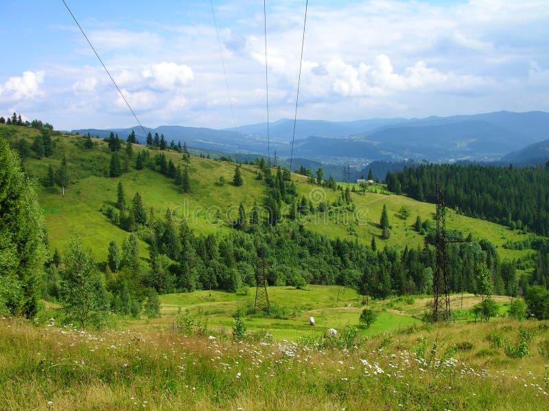 прикарпатские горы Украина стоковая фотография