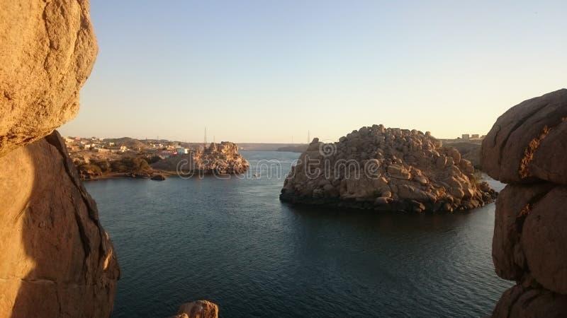 Приключение Нила через острова Асуана на Египте стоковая фотография rf