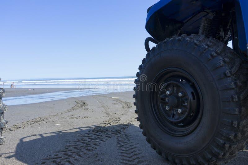 Приключение ATV на пляже стоковые изображения rf
