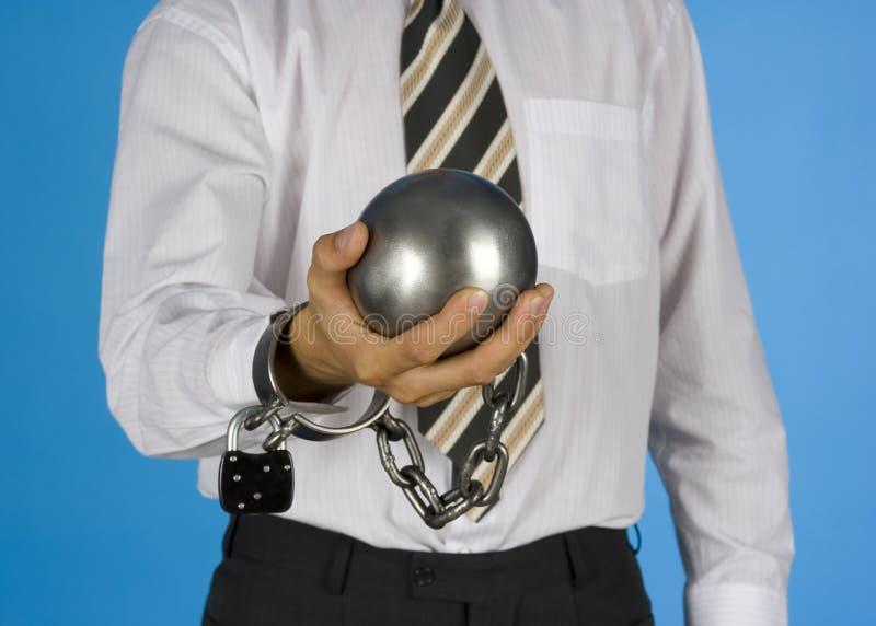 прикованный бизнесмен стоковые изображения rf